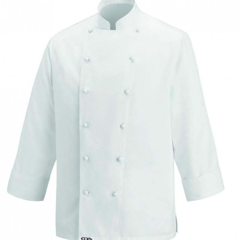 Veste de cuisine haut de gamme veste de cuisinier blanche coton Veste de cuisine orange