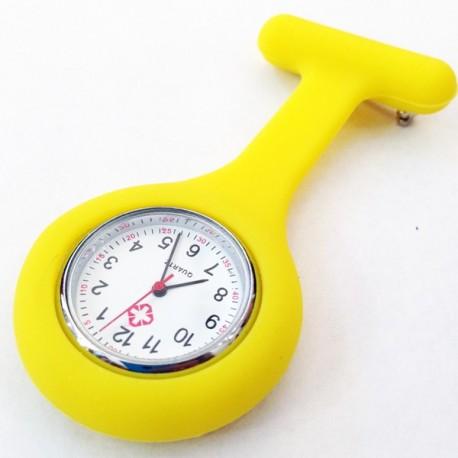 Montre infirmière jaune
