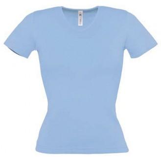Tee shirt de travail femme bleu ciel