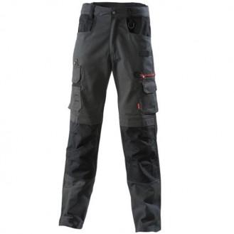 Pantalon de travail Gris charbon / noir 1ATN82CP