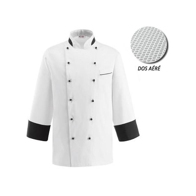 Veste de Cuisine blanche dos aéré - Nano