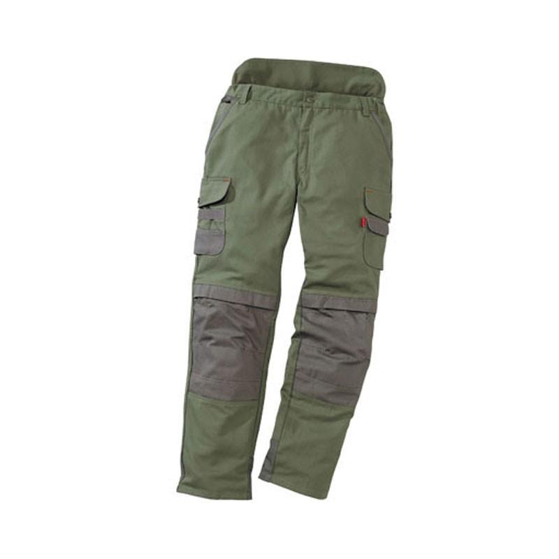 Pantalon de travail paysagiste et jardinier kaki/brun 1OUT82CP