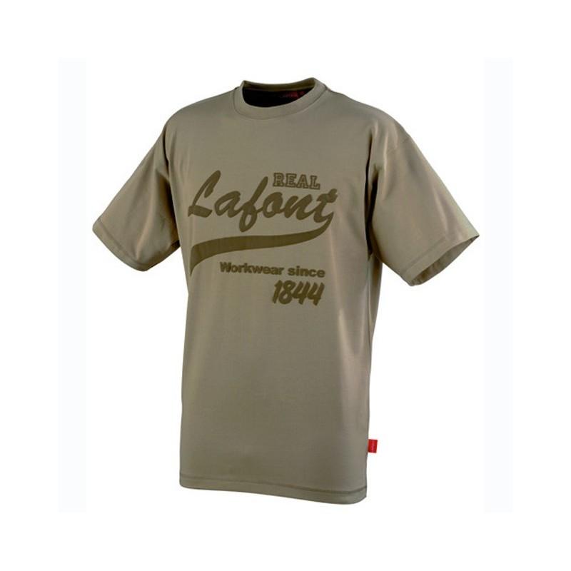 Tee shirt de travail de travail print Beige CSTONE