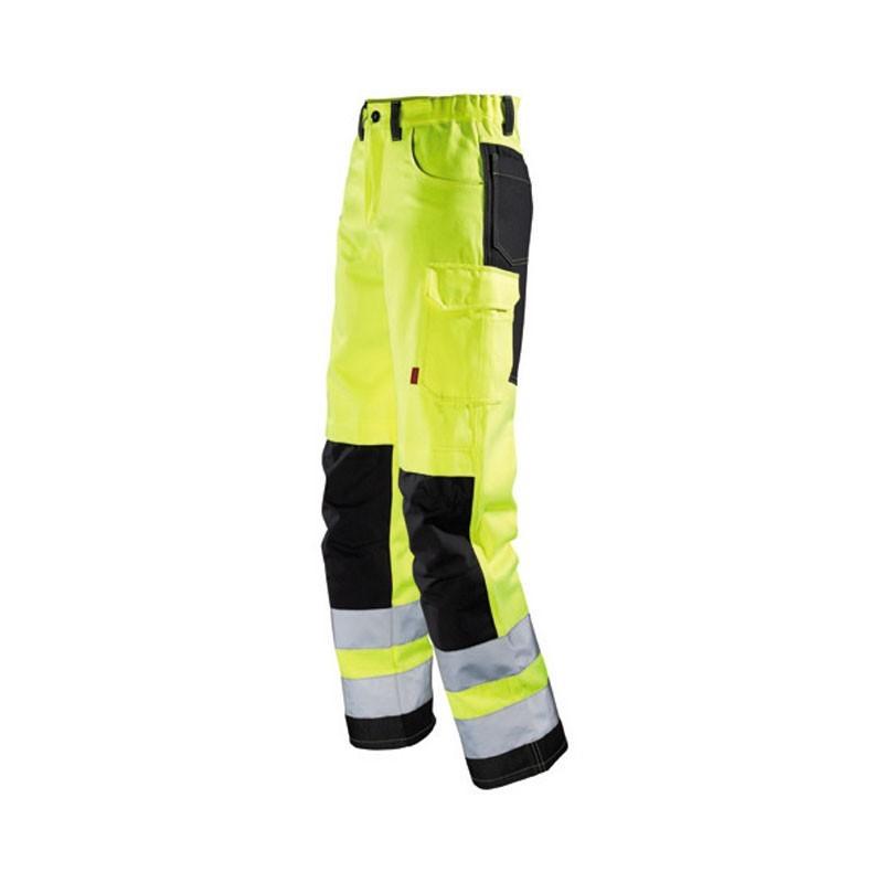 Pantalon de travail jaune fluo JAUNE HIVI/NOIR 1FLH82CP
