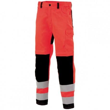 Pantalon de travail haute visibilité rouge fluo ROUGE HIVI/NOIR 1FLH82CP