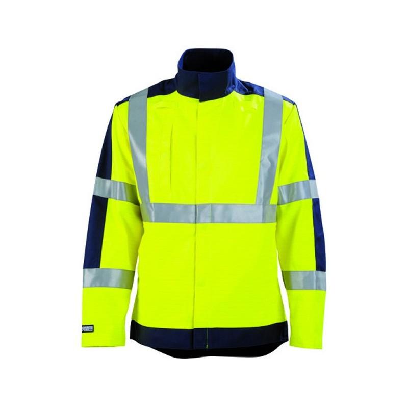 Veste de travail haute visibilité protection contre le feu et la chaleur JAUNE HIVI/MARIN 2PRHV00CP