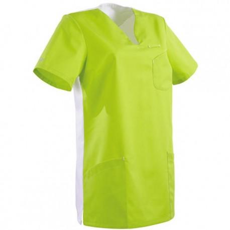 Tunique médicale verte et blanche 2MAT