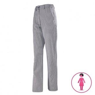 Pantalon de Cuisine femme pied de poule