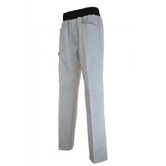 Pantalon de Cuisine Confort Gris Ligné