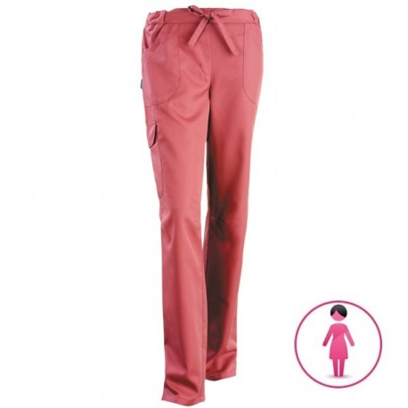 Pantalon médical Juliette rose cassis