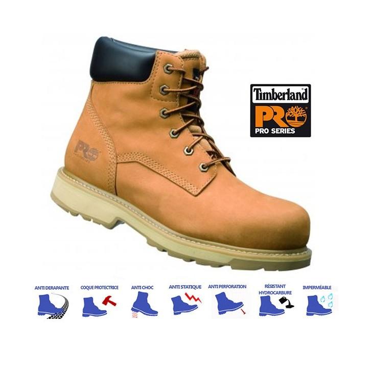 Chaussure de sécurité TIMBERLAND pro Traditional Wheat SBP E WRU HRO SRA S3