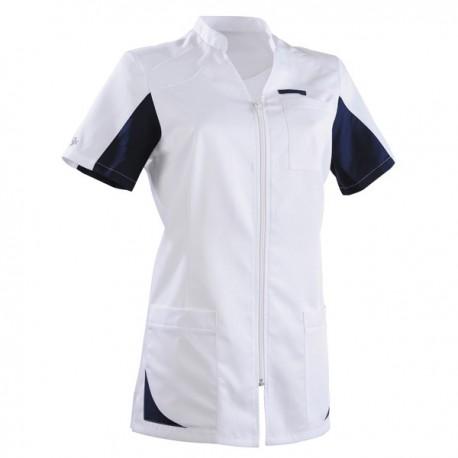 Blouse médicale 2SAN blanc & bleu marine
