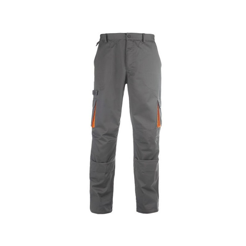 Pantalon de travail gris & orange 8PADPL
