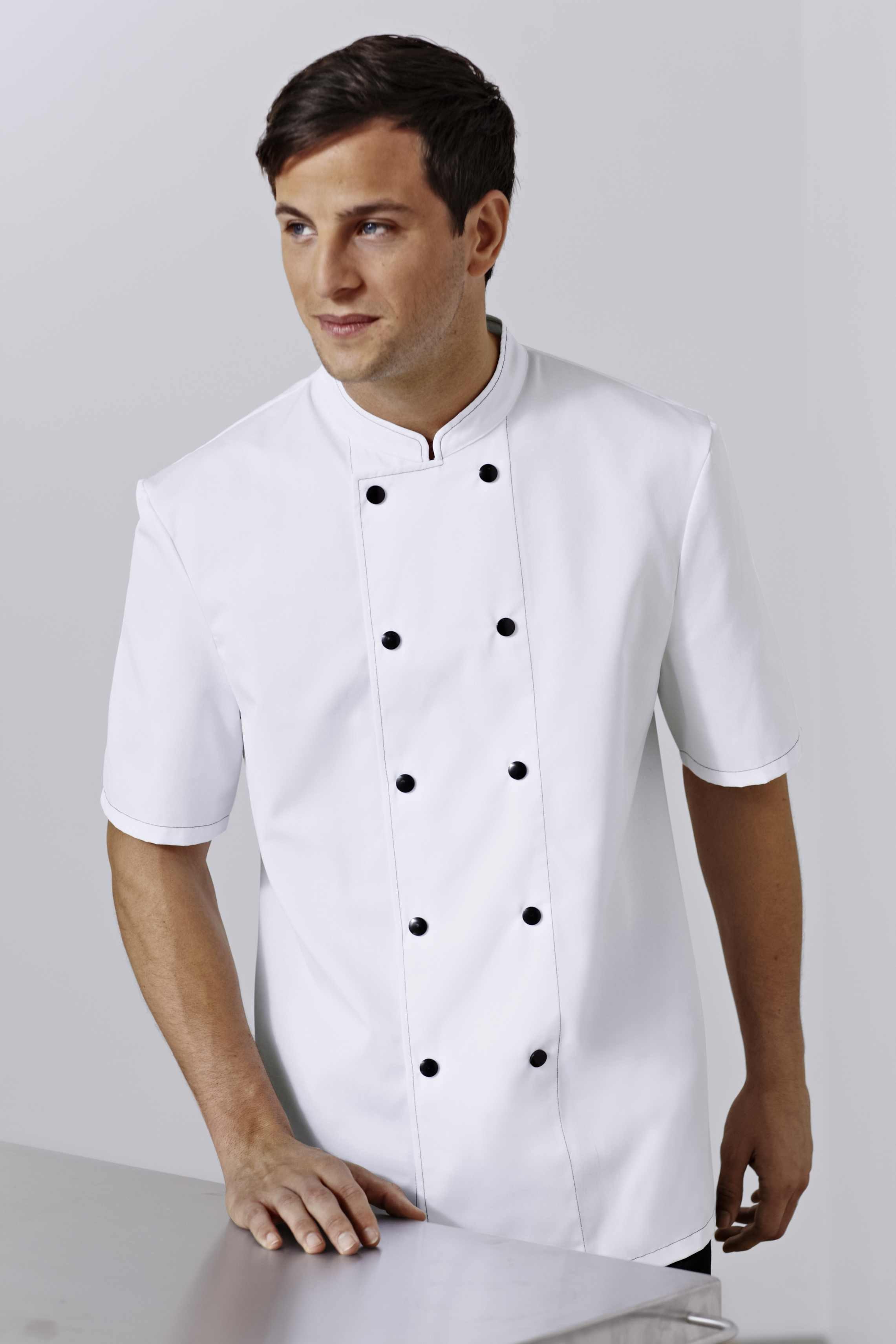 Veste de cuisine grise boutons noirs ego chef albert for Veste de cuisine bragard