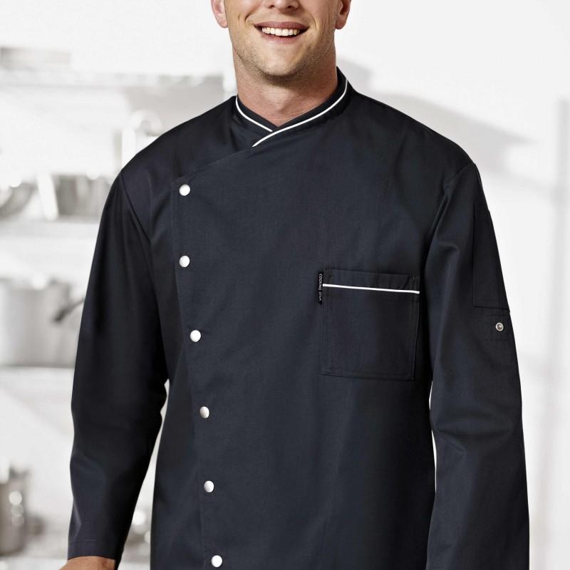Veste de cuisine noirecooking star bragard for Veste de cuisine brodee