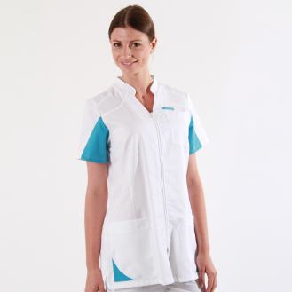 Blouse medical bleu ciel