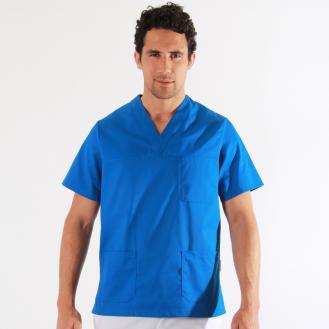 Tunique medicale bleue