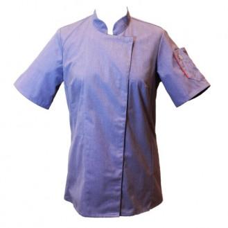 Veste de cuisine femme bleu clair - UNERA ROBUR