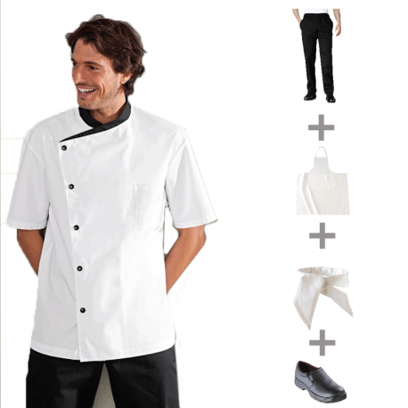 Pack v tements de cuisine et tenues compl tes apprentis for Vetements cuisine