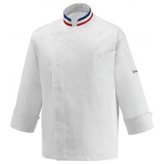 Veste de Cuisine Blanche Tricolore