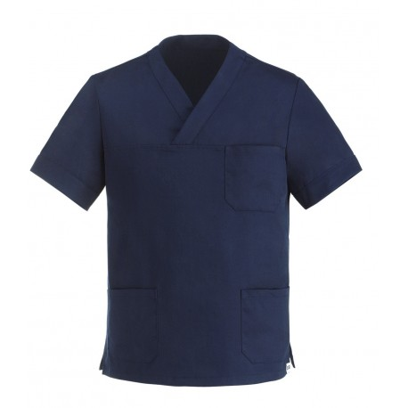 Tunique Médicale Col V Bleu Marine mixte