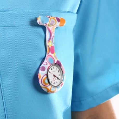 Montre infirmière multicolor