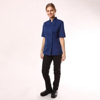 Veste de Cuisine Femme bleue lady - ML/MC