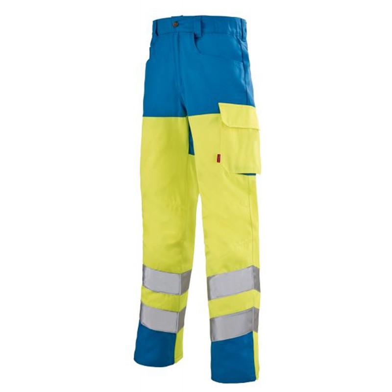 Pantalon haute visibilité jaune fluo JAUNE HIVI/AZUR 1HVI77CP