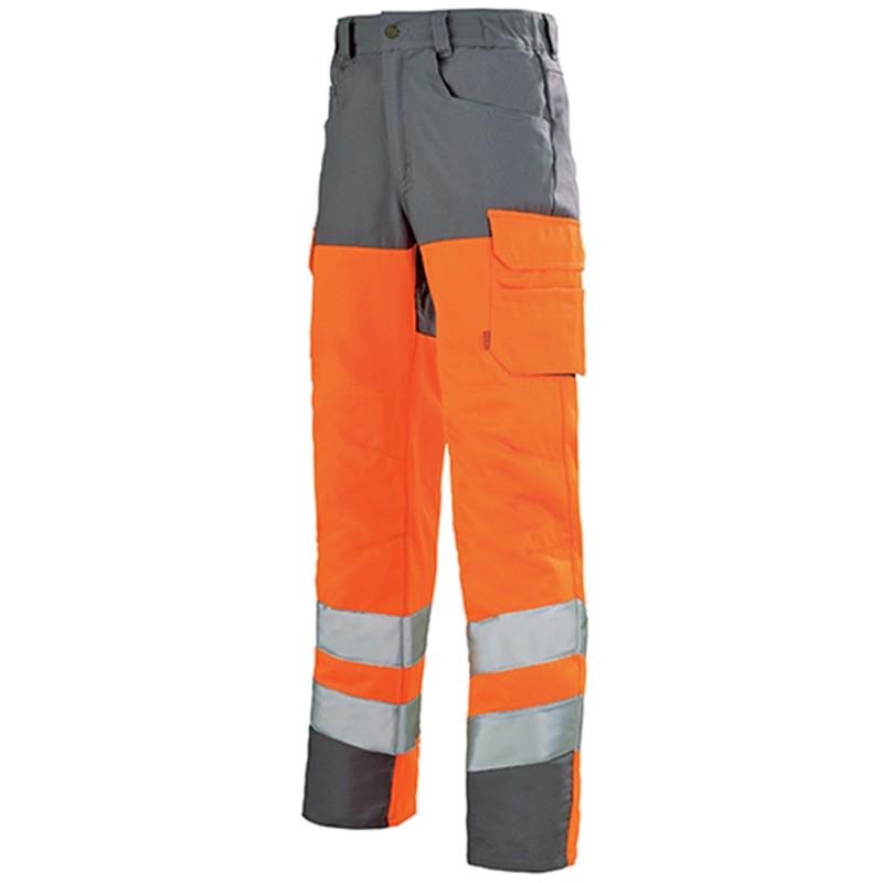 Pantalon haute visibilité fluo ORANGE HIVI/ACIER 1HVGCP
