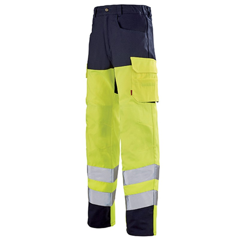 Pantalon de travail jaune fluo JAUNE HIVI/MARIN 1HVGCP