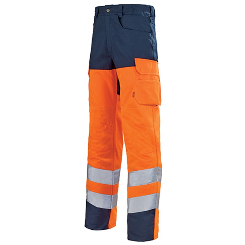 Pantalon de travail fluo ORANGE HIVI/MARIN 1HVGCP