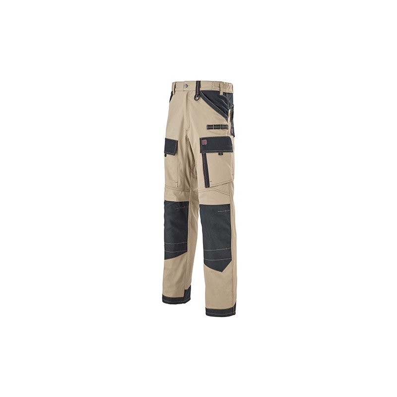 Pantalon Multipoches Protection Genoux Beige