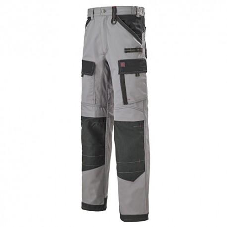 Pantalon Multipoches Protection Genoux Gris