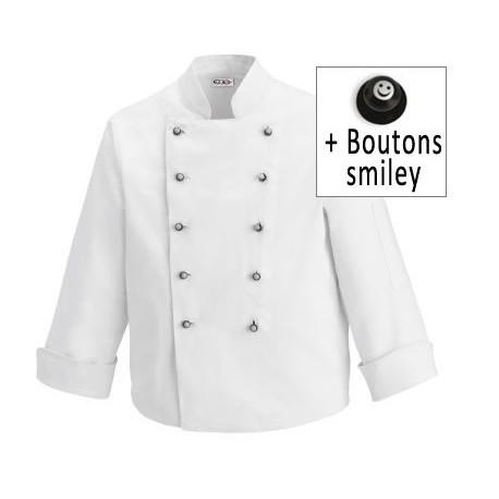 Veste de Cuisine Enfant boutons Smiley