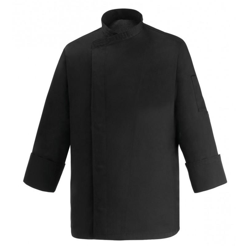 Veste de cuisine noire grande taille Manelli