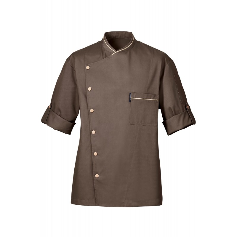 Veste de cuisine bragard cooking star chicago taupe for Veste de cuisine bragard