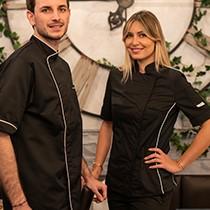 veste de cuisine : veste de cuisinier homme et femme pas cher - Veste De Cuisine Noir Pas Cher