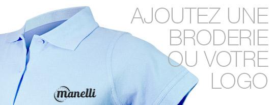 Personnalisez votre polo bleu ciel femme avec une broderie ou votre logo