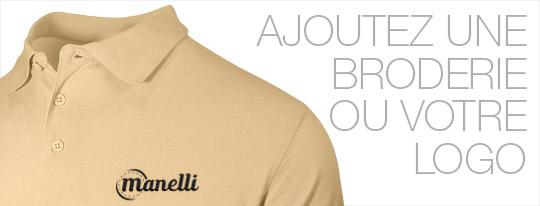 Personnalisez votre polo homme beige avec une broderie ou votre logo