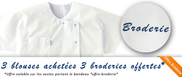 broderie blouse medicale