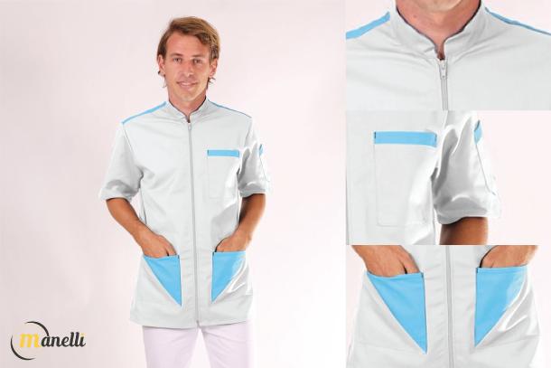 blouse médicale zippée