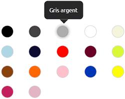 couleur de broderie disponible pour personnalisation vetement de travail