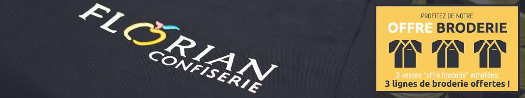 personnalisation de vêtement de travail avec le service broderie pas cher de Manelli