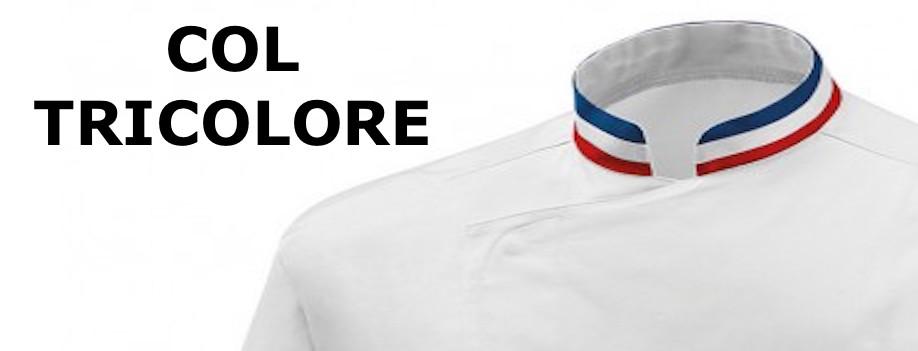 veste de cuisine mof col bleu blanc rouge broderie possible. Black Bedroom Furniture Sets. Home Design Ideas