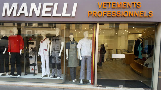 Magasin Manelli Paris vêtements professionnels Manelli